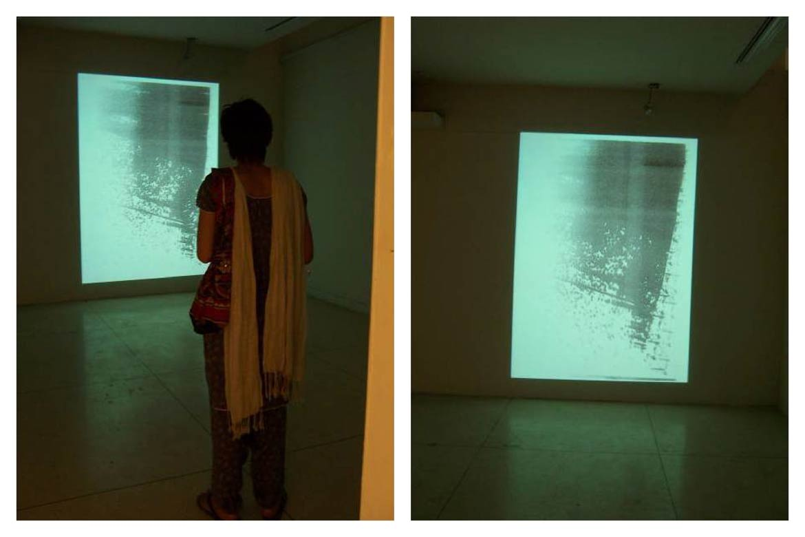 Raju GC, Reconciliation after 253 Years (slide 18); Video Installation, 253 Seconds, Black and White, Sound, Played on Seamless Loop, Edition of 3; 2008
