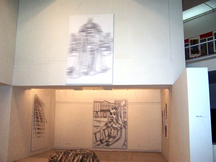 Raju GC, The King (Display View), Digital Print on Canvas, 162.56 x 254 cm, Editions of 5, 2007