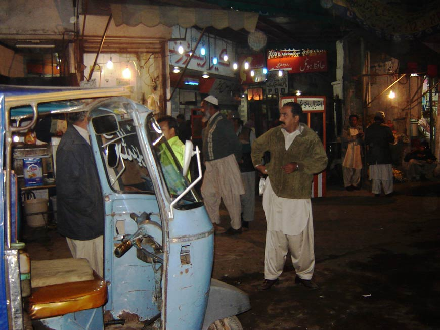 Raju GC, More of a Pakistani than everyone else, Performance near Landa Bazaar, Lahore; 2006.