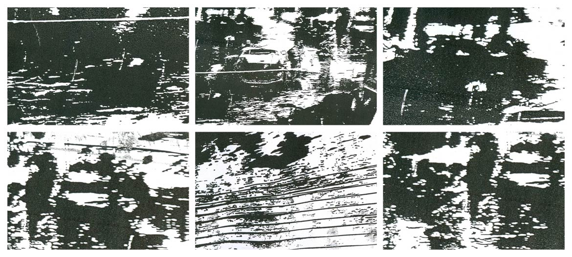 Raju GC, Skyscraper, Video Installation (Select Details), 53 Seconds, Black and White, Sound, Played on Seamless Loop, Edition of 3, 2009