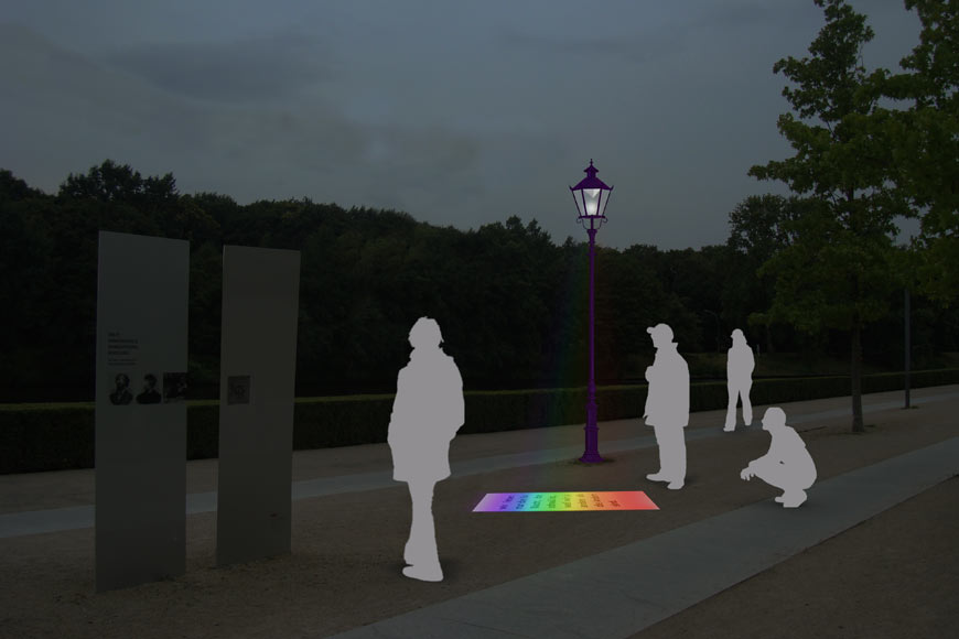 Digital Render of Spectrum Design for A Monument for the first homosexual emancipation movement