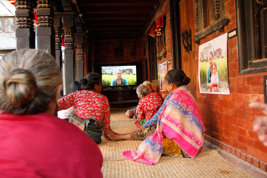 Raju GC, Shramik ka Katha (Migrant's Story), Installation View of Video Screenings, Chysal, 2018