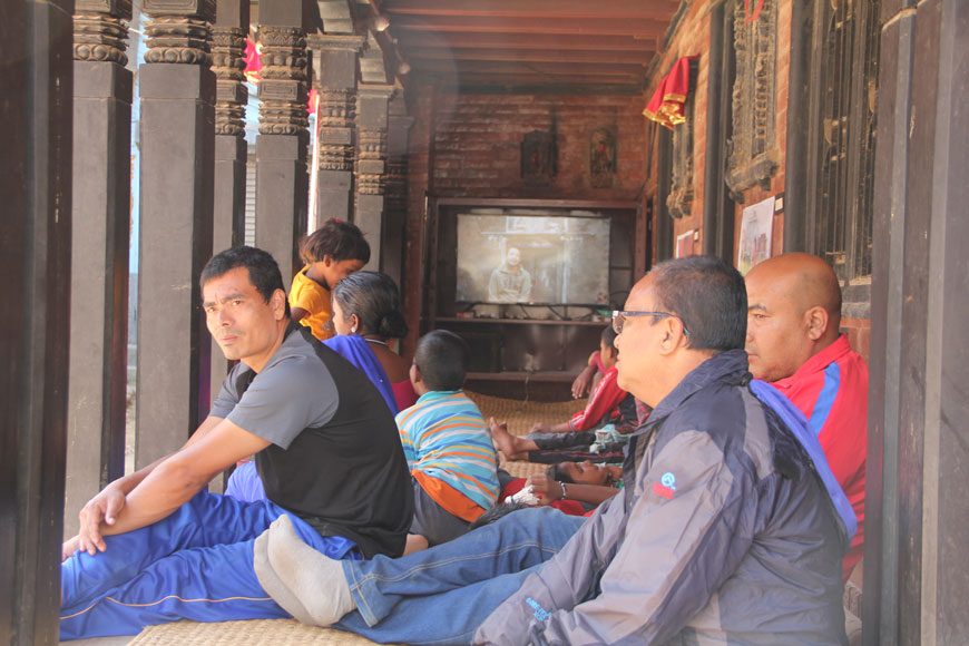 Raju GC, Shramik ka Katha (Migrant's Story), Multimedia Installation, Video Screenings, Chysal, 2018