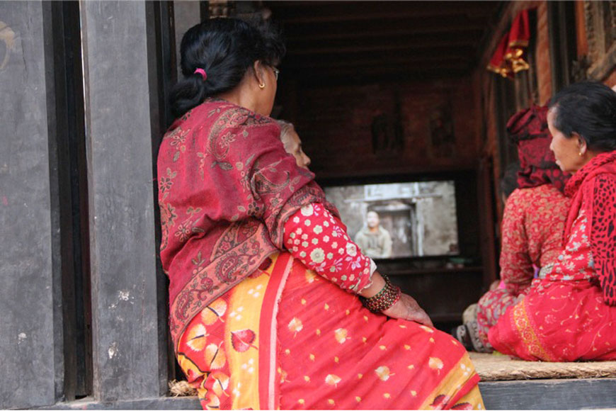 Raju GC, Shramik ka Katha (Migrant's Story), Video Screenings - Installation View, Chysal, 2018